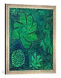 Gerahmtes Bild von Paul Klee Tief im Wald, Kunstdruck im hochwertigen handgefertigten Bilder-Rahmen, 50x70 cm, Silber Raya
