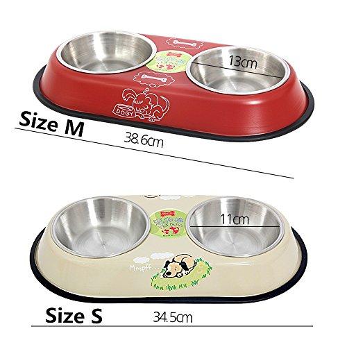 PAWZ Road, Doppel-Fressnapf für Hunde und Katzen – in zwei Größen erhältlich - 5