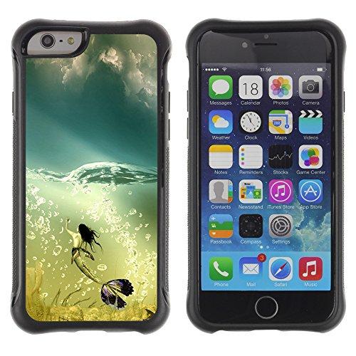 Graphic4You Art Drawing Design Shockproof Anti-Rutsch Weichen Hülle Case Tasche Schutzhülle für Apple iPhone 6 / 6S Design #20