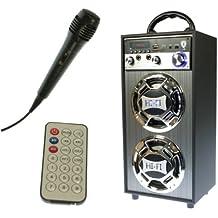 Karaoke Altavoz Multifunción - Batería Recargable - Reproduce USB y tarjetas SD - Mando a distancia. Modelo L-120