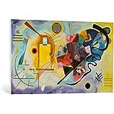 """Cuadro en lienzo: Wassily Kandinsky """"Gelb, Rot und Blau"""" - Impresión artística de alta calidad, lienzo en bastidor, 100x60 cm"""