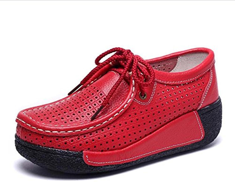 MYI Scarpe da Ginnastica da Donna Confortevoli scarpe da ginnastica Traspiranti Plat Trainers Nero Rosso Bianco Giallo Taglia... | Alta qualità e basso sforzo  | Uomo/Donna Scarpa