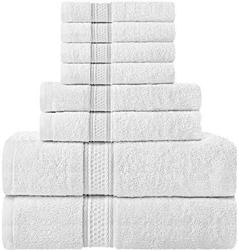 comprar Utopia Towels - Juego de toallas; 2 toallas de baño, 2 toallas de mano y 4 toallitas - 100% Algodón (Blanco)