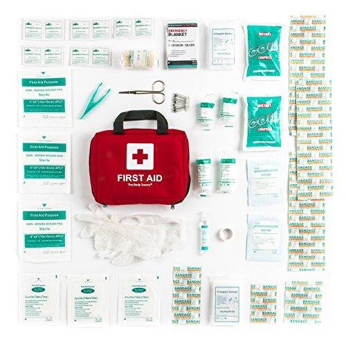 Erste-Hilfe-Set mit Kühlakkus, Augenspülung und Rettungsdecke 90-teilig - 6