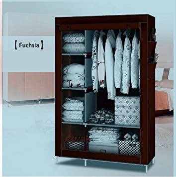 GTC 4 1 Layer Fancy And Portable Foldable Closet Multipurpose Wardrobe With Shelves
