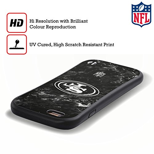 Ufficiale NFL LED 2017/18 San Francisco 49Ers Case Ibrida per Apple iPhone 5 / 5s / SE Marmo