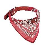 Teaio Hundehalstuch Hundehalsband Haustier Hund Katze Welpe Halstuch Schal Kragen Decor, 2 Einstellbar Größe, 6 Farben