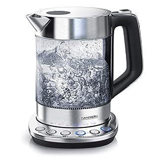 Glas-Wasserkocher-mit-Temperatureinstellung-Warmhaltefunktion-30min-15-Liter-Fllmenge-Borosilikatglas-Basisstation-aus-Edelstahl-mit-Filter-Modernes-Design-BPA-Frei