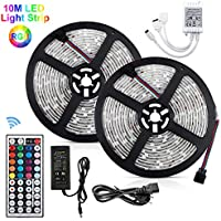 10M Tira de led RGB Multicolor 300 LEDs Impermeable Flexibles LED Strip Adaptador de Luce de LED Para Fiestas Decoración/Luz Ambiental