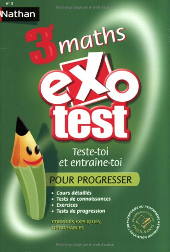 Exo-test : Maths, 3ème