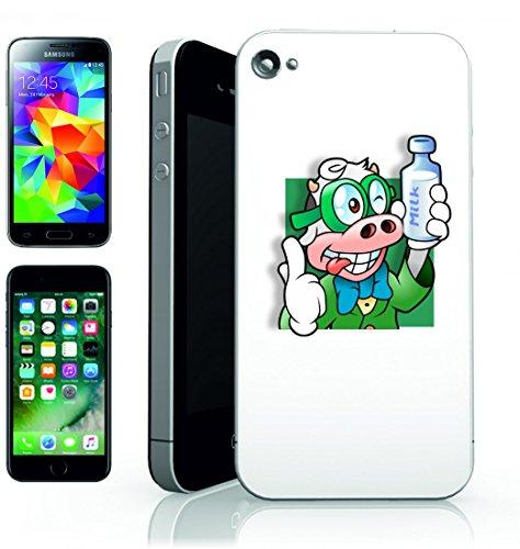 Smartphone Case vermen schlichte animali di avatar di Intelligent di latte di mucca komischer Uccello per APPLE IPHONE 4/4S, 5/5S, 5C, 6/6S, 7& Samsung Galaxy S4, S5, S6, S6Edge, S7, S7Edge Huaw