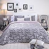 Sancarlos - Edredón conforter jacquard leather gris - densidad 250 g. - Fibra hueca siliconada - esquinas redondeadas