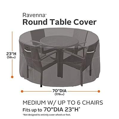 Classic Accessories Ravenna Abdeckung für runden Gartentisch mit Stühlen von Classic Accessories - Gartenmöbel von Du und Dein Garten