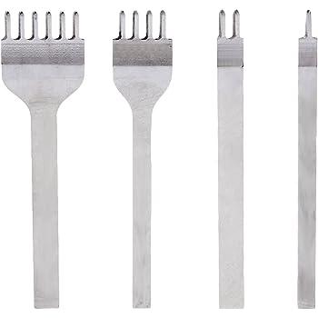 45528946a1bb4b Set 4 Stk. Lederverarbeitung DIY Leder Handwerk Werkzeuge Loch Stanzen  Nähte Punch Werkzeug Set Stift