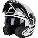 Spada Reveal Tracker Flip Front Motorcycle Helmet XL White Black