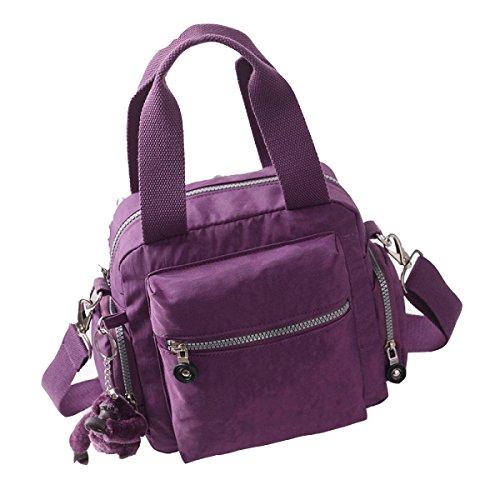 Yy.f Borsa Borse Sacchetto Del Messaggero Sacchetti Delle Signore Mamma Bag Borsa Di Tela Del Pacchetto Spalla. Multicolore Purple