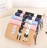 Womens-Cute-CatCard-Holder-Purse-Wallet-Bifold-Long-Purse-with-Zipper