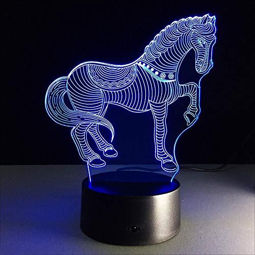 FENF 3D Vision Nachtlicht Tier Zebra 7 Farbverlauf Touch LED Acryl 3D Stereo Dekorative Tischlampe ()