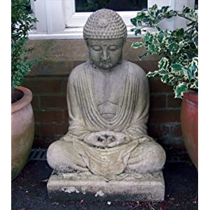 5180MHaZ4kL. SS300  - Meditation Stone Buddha Statue - Large Garden Ornaments