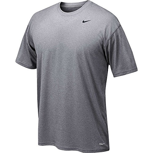 Nike Legend Poly SS Tee–Maglietta a maniche corte per uomo Carbon Heather
