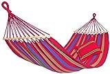 Amazonas EL-1070000 Aruba cayenne Hängematte, Belastbarkeit 150kg, Liegefläche 210 x 120cm