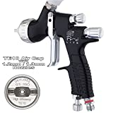 DeVilbiss GTI ProLite BLACK TE10 High Efficiency Air Cap Solvent/Waterbase Spray Gun 1.2/1.3mm Set Up can be used for waterbased and also lacquer - this is a good all rounder to do multiple tasks
