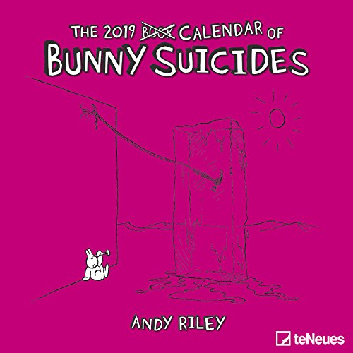 2019 Bunny Suicides Calendar - Humour Calendar - 30 x 30 cm