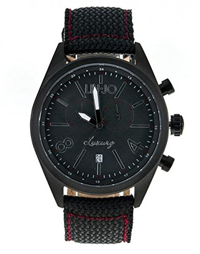 LIU-JO Uhr Armbanduhr Herren camp619Luxury Limited Edition Schwarz Stoff Stahl (Limited Edition-stoff)