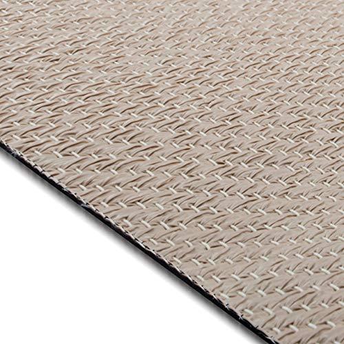 casa pura Design Bodenschutzmatte Verona in 6 Größen | dekorative Unterlegmatte für Bürostühle oder Sportgeräte (150 x 180 cm)