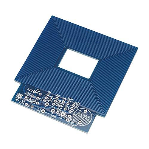Einfacher Metalldetektor Metall Locator Elektronische Produktion DC 3V-5V DIY Kit Umweltfreundliche Materialien - blau