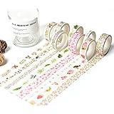 JSGDJD Klebeband 8 Stk/pack Japanisches Washi Tape Klebeband DIY Scrapbooking Sticker Label Abdeckband - 8 Stk/Pack