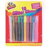 Glitter glue Pens, Lot de 10, couleurs assorties, pour créer des décorations