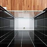 Duschkabine eckeinstieg Schiebetür Duschabtrennung 150x190cm Duschtür Duschwand aus 8mm NANO Glas Test