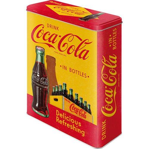 Nostalgic-Art 30322Tarro Coca-Cola in bottles, Amarillo