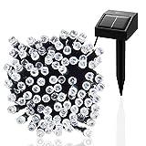 Esky® LED Solar Tira de Luz para Patio,Jardín, Navidad, Fiesta(100LED Luz Fría, 55plg 17m)