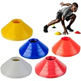 BESTIM INCUK Space Markers Cones for Soccer Football Ball Training, Random Color, Pack of 10