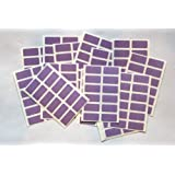 200 Purple Stickers - Sticky Coloured Self Adhesive Labels for Colour Coding