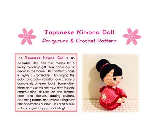 Japanese Kimono Doll - Amigurumi Crochet Art Doll Pattern and Tutorial  (English - Doll Kimono