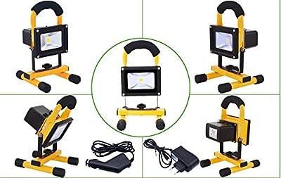 SLPRO® 20W LED Fluter Arbeitsleuchte Mit Akku Kaltweiß Gelb Dünn Baustrahler Handlampen Flutlicht Tragbar Wiederaufladbare IP65 20W Kaltweiß