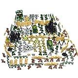 DUS 250 Stücke DIY Kunststoff Soldaten Figuren Spielzeug Militär Spielzeug Waffen Mini Figuren Set