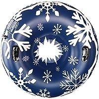 diirm Tubo de Nieve Inflable de 47 Pulgadas Resistente al congelamiento, Trineo de Nieve Grande con Asas para Invierno, diversión al Aire Libre para niños y Adultos (2 Colores)