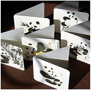 BaBaSM Portable 6 Pcs Splash Ink Panda Cartes Cartes Cartes de vœux pour le jour de Thanksgiving Valentine's Day Le jour de mères (noir  blanc) | Une Bonne Conservation De La Chaleur  fdfda0