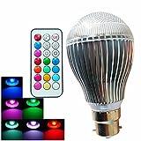 Glühlampen, Home Leuchtmittel B22Globe LED Leuchtmittel A60(A19) 3High Power LED 500lm RGB RGB K dimmbar RC Leuchtmittel Deko AC 100–240V