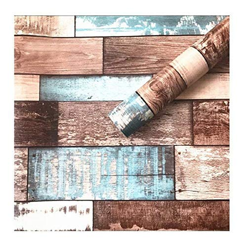 Jaamso Royals Reclaimed Wood Wallpaper - Peel and Stick Wallpaper - Use as Contact Paper, Wall Paper, or Shelf Paper - Removable Wallpaper - Plank Vintage Barnwood Distressed Wallpaper (200 * 45 cm)