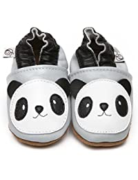 """Suaves Zapatos De Cuero Del Bebé """"Panda"""" 5-6 ans"""