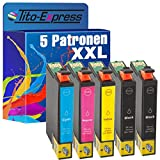 PlatinumSerie 5 Druckerpatronen XXL TE2991-TE2994 29XL kompatibel für Epson Expression Home XP-235 245 247 255 257 332 335 342 345 352 355 432 435 442 445 452 455 | Black je 18ml, Color je 15ml