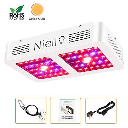 CREE COB lampada da coltivazione, Niello 600W Riflettore LED Pianta la lampada, spettro completo Par...
