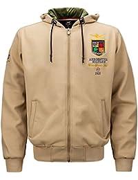 Salamaya Uomo Softshell Full Zip Pullover Felpa con Cappuccio Giacca in Pile Maglione Abbigliamento Sportivo Giacca a Vento Softshell