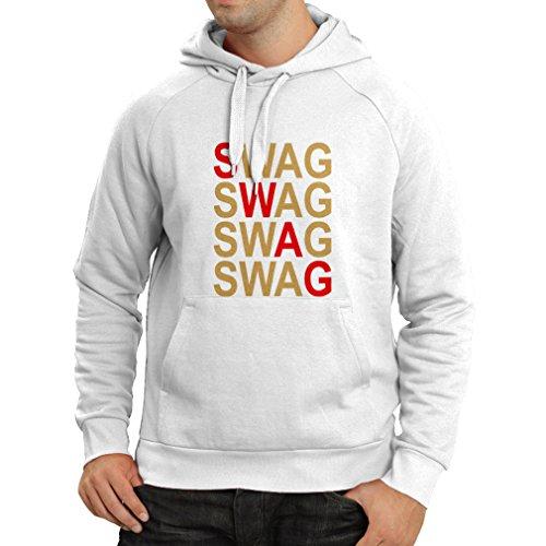 Felpa con cappuccio SWAG fashion, ti rappresenti, stile personale Bianco Oro