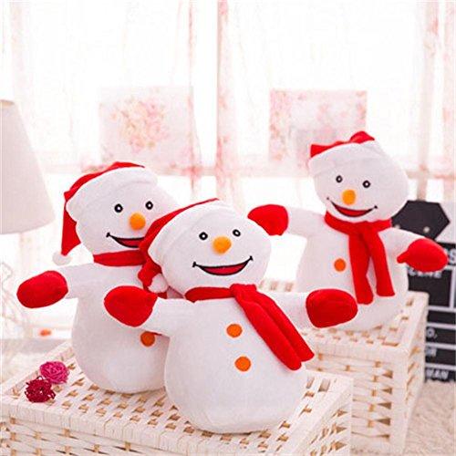 Plüschtiere Schneemann Puppen Weihnachtsgeschenke , 30cm (Duschvorhang Video)